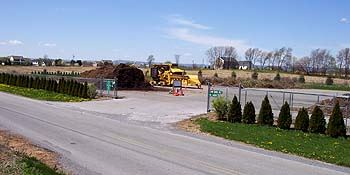 The Township compost site as seen from Lindsey Road